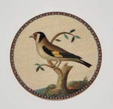 Micromosaico su rame raffigurante uccello