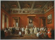 Cerimonia alla presenza di Benedetto XIV