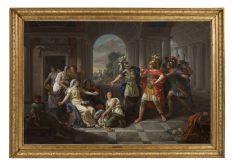 Sesto Tarquinio ammira la virtù di Lucrezia